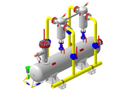 Separation gas treatment skids