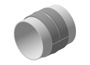 Welded steel couplings for pipeline repair