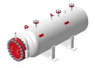 Instrument gas storage tanks